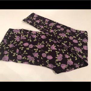 LulaRoe TC leggings lavender rose